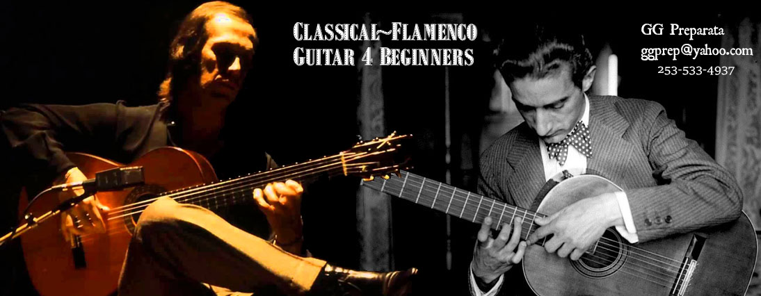 classical flamenco guitar for beginners g g preparata. Black Bedroom Furniture Sets. Home Design Ideas
